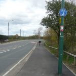 Photograph of cycle path at Parkhill