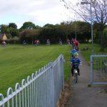 hildren on bikes near Leisure Centre