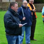 Photograph of Parish chairman giving speech before the walk