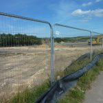 Photograph of fencing around site
