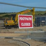 Photograph of footpath closed dign