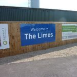 Photograph of estate advertisement The Limes sign