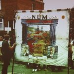 Photograph of old pit banner