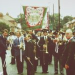 Photo of pit banner in streets