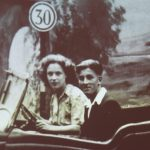Photo of couple in car 1930's