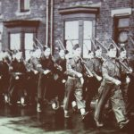 Photo of soldiers marching near Blackgate