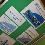 Photograph of parish plan exhibition