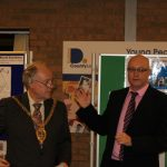 Photograph of speech by Leisure centre Chair