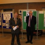 Photograph of County Council Chairman and Leisure Centre Chair talking