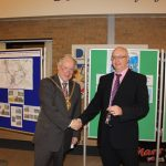 Photograph of County Council Chairman and Leisure Centre Chair