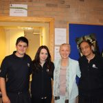 photograph of Leisure Cenre Manager with staff