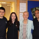 photograph of Leisure Cenre Manager with staff in close up