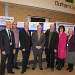 Photograph of Leisure centre Board with County Council Chairman