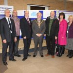 Photograph of Leisure centre Board with County Council Chairman official photo