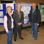 Photograph of Coxhoe Partnership members with County Council Chairman