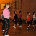 Photograph of Zumba participants