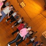Photograph of Zumba participants participating