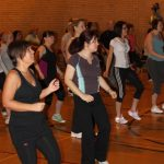 Photograph of Zumba participants working out