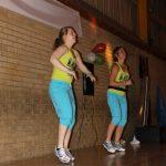 Photograph of Zumba instructors blue shorts