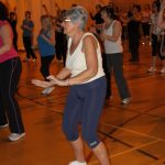Photograph of elderly Zumba participants