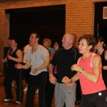 Photograph of mixed Zumba participants