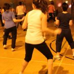 Photograph of Zumba participants giving it lots