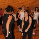 Photograph of Zumba participants in groups