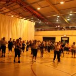Photograph of Zumba participants, there a lot of them