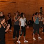 Photograph of a group of Zumba participants