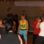 Photograph of Zumba participants with instructor