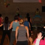 Photograph of Zumba participants taken from the back