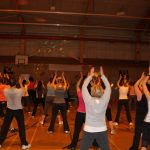 Photograph of Zumba participants clabpping