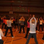 Photograph of Zumba participants moving
