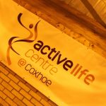 Photograph of banner at the Active Life Centre