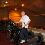 Photograph of man on cross trainer at active Life Centre