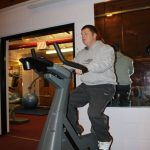 Photograph of man at active Life Centre working out
