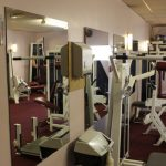 Photograph of weights room at active Life Centre with mirror
