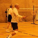 Photograph of people playing badmington despite injury