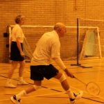 Photograph of people playing badmington