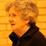 Photograph of elderladyplaying badmington