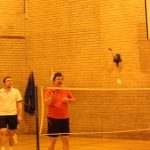 Photograph of people playing badmington in the leisure centre
