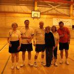 Photograph of people badmington club members