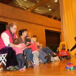Photograph of mothers carers and toddlers enjoying play