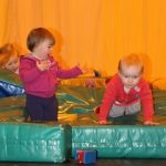 Photograph of children playing in a group