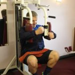 Photograph of man on weights macjing at active Life Centre