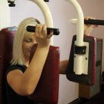 Photograph of lady pulling her weights at active Life Centre
