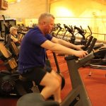 Photograph of man on bike at active Life Centre