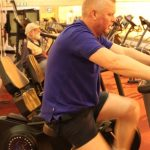 Photograph of man on one of the training machines at active Life Centre