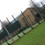 Photograph of outdoor playing areas taken at an angle