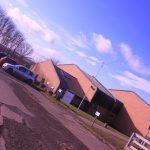 Photograph of main building angularly taken